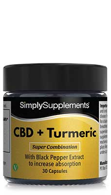 Simply Supplements CBD & Turmeric with Black Pepper