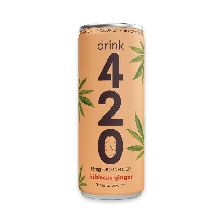Drink 420 Hibiscus Ginger CBD Drink